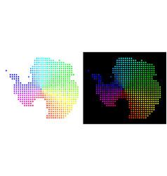 Bright pixelated antarctica map vector