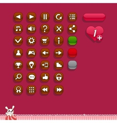 Buttons for game interfaces vector