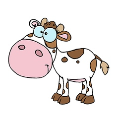Cartoon Character Calf Different Color White vector image