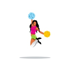 Cheerleading sign vector