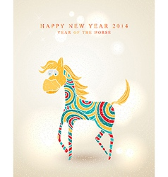 Chinese New Year of the Horse postcard vector image