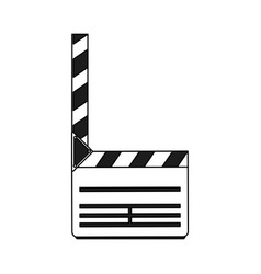 color silhouette image movie clapperboard icon vector image