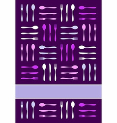 Cutlery invitation background vector image vector image