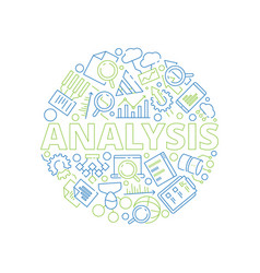 data management concept data analysis symbols in vector image