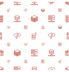 database icons pattern seamless white background vector image