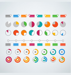 Different color infographic elements clipart vector
