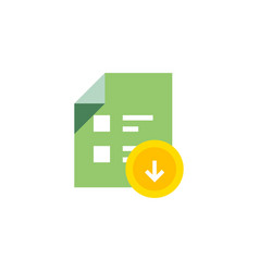download document icon - flat vector image