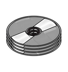 dvd cd rom vector image