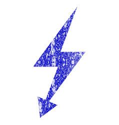 Electric strike grunge textured icon vector