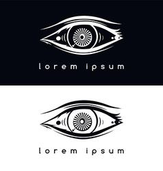 eye vision logotype vector image