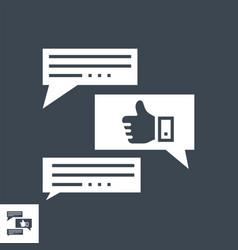 Feedback glyph icon vector