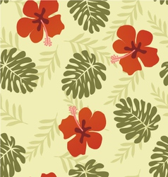 Flower pattern hibiscus vector