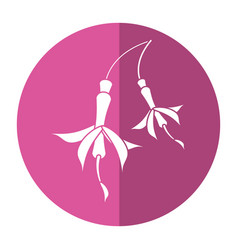 flower petal natural icon shadow vector image