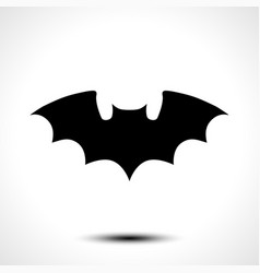 Flying bat silhouette vector