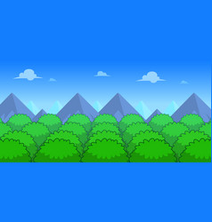 Forest day game background vector