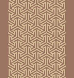 geometric ornament based on a hexagonal grid vector image