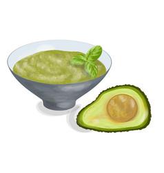 guacamole vector image