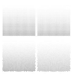 halftone backgrounds set halftone dots vector image
