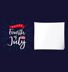 happy independence day usa creative banner vector image