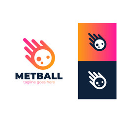 impact meteor logo with tail icon meteor logo vector image