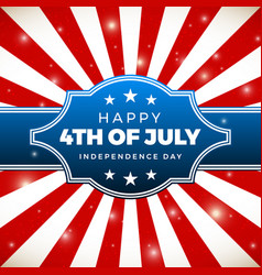 Independence day design holiday in united states vector