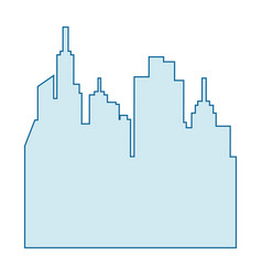 Isolated city landscape vector