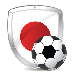 japan shield soccer vector image