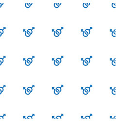 Male and female icon pattern seamless white vector