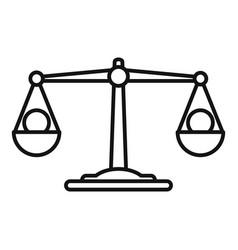 Money scales bribery icon outline style vector