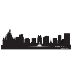 Orlando Florida skyline Detailed city silhouette vector