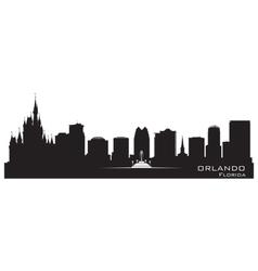 orlando florida skyline detailed city silhouette vector image