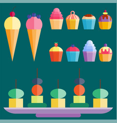 Party cake food dessert sweet cream celebration vector