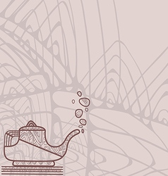 Pattern of stylized pastel silhouette of teapot vector image