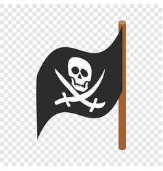 pirate flag isometric icon vector image