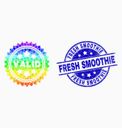 rainbow colored pixel valid stamp icon and vector image