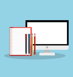 Screen and notebook design vector