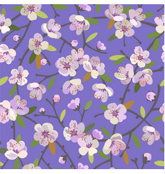 Seamless pattern with blooming apple branches vector