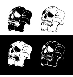 set of skulls abstract design template vector image