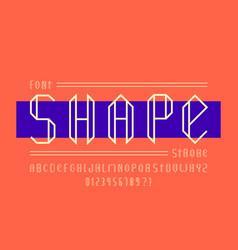 Shape font alphabet vector