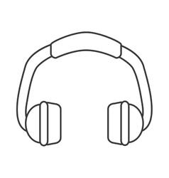 single headphones icon vector image