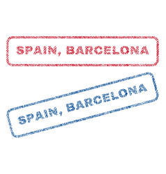 Spain barcelona textile stamps vector