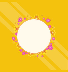 spring theme frame with flower vector image
