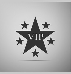 star vip with circle of stars icon vector image