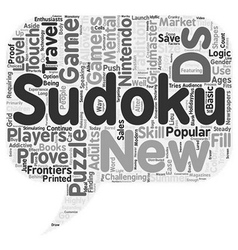 Sudoku On The Go text background wordcloud concept vector image