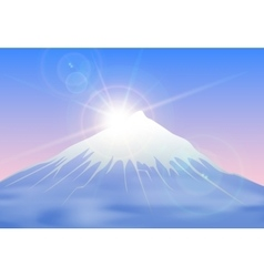 Sunrise mountain landscape vector image