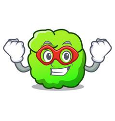 Super hero shrub character cartoon style vector