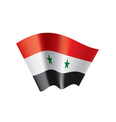 syria flag on a white vector image
