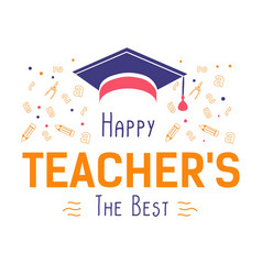 teachers day professional holiday education vector image