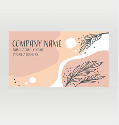 template abstract minimalistic business card vector image