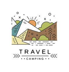 travel camping logo design adventure travel vector image